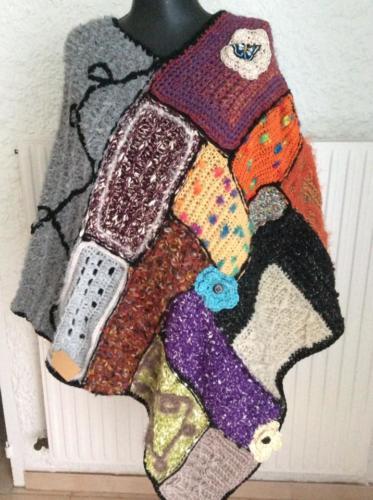 Poncho en laine d'Agnès Création